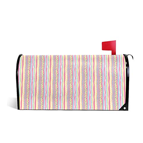 - Mailbox Covers Standard Size Magnetic Mail Cover Harlequin Darlings Vertical Stripes Wraps Letter Post Box Cover 21