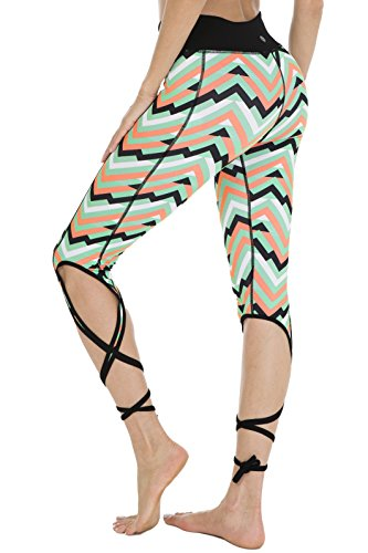 Queenie Ke Women's Yoga Pant Legging Capris String-End Workout Dance Pants