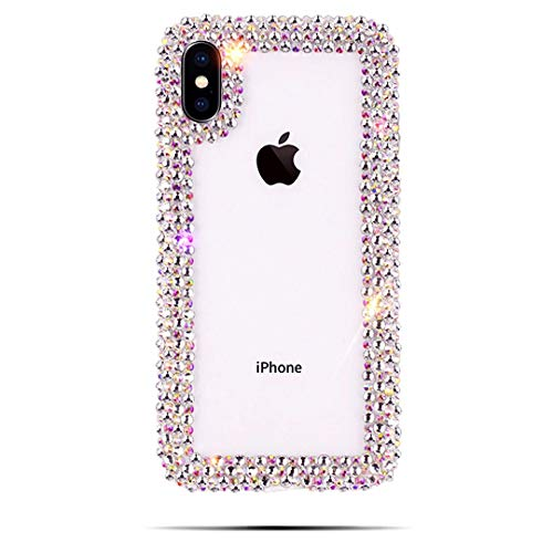 Jeweled Bling Case - 【CaserBay】 iPhone Case Luxury CrystalClear Hand-Crafted Jeweled Bling Rhinestone Phone Case Cover【Clear, Compatible with 6.1