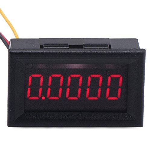 """DROK 0.36"""" LED 5 Digit DC0-33.000V 12V 24V High Accuracy Voltmeter Auto Digital Voltmeter Car Battery Tester Volt Gauge Panel Meter with Red Digital Display and 3 Wires"""
