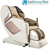 Osaki OS-Pro Maestro 4D L-Track Massage Chair with Foot Roller, Zero Gravity, Space Saving Design, Beige