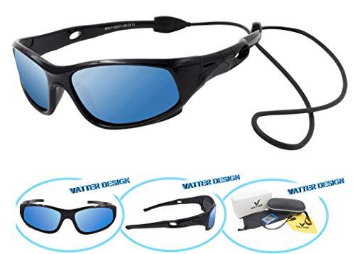 VATTER TR90 Unbreakable Polarized Sport Sunglasses For Kids Boys Girls Youth 816blackbluelense by VATTER