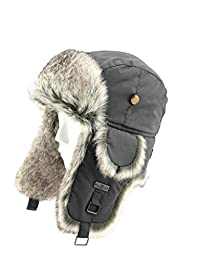 FUR WINTER Taslon Faux Fur Aviator Bomber Trapper Trooper Pilot Ski Hat