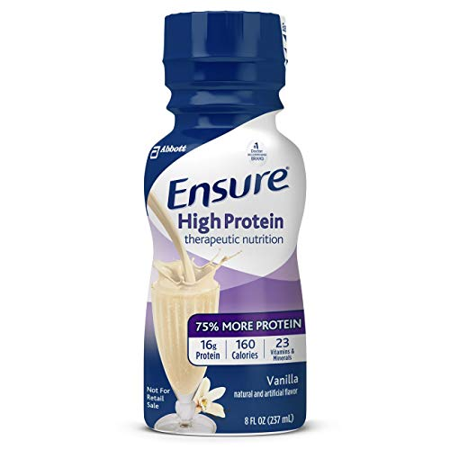 Ensure High Protein Vanilla Flavor 8 oz. Bottle Ready to Use, 64136 – Case of 24