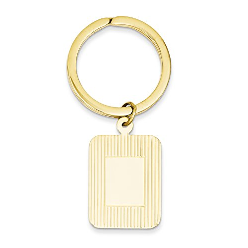 (14k Yellow Gold Rectangle Disc Key)