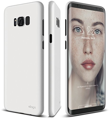 elago Galaxy S8 Plus Case [Origin][White] - [Device Fitting Tested][Minimalistic][Scratch Protection Only][True Fit] - for Galaxy S8