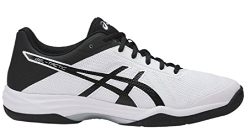 2 Volleyball Shoe (ASICS Men's Gel-Tactic 2 Volleyball Shoe, White/Black/Silver, 10.5 Medium US)