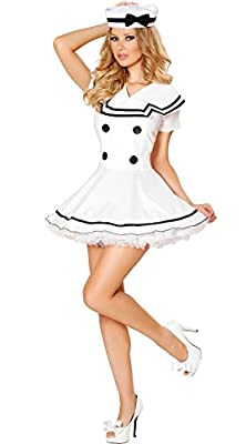 Sexy Classic Navy Mariner Sailor Girl Dress Halloween Costume Outfit