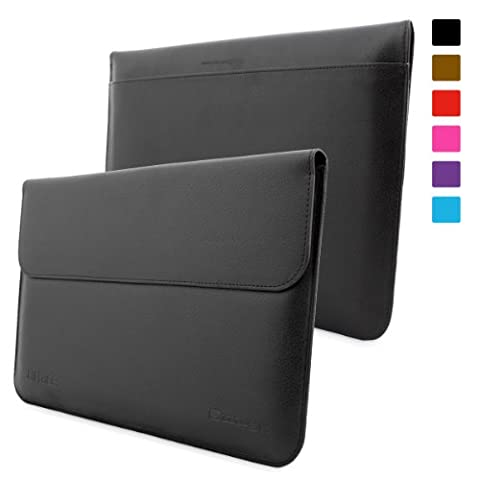 Surface 2 and Surface 1 Sleeve, Snugg - Black Leather Sleeve Case Protective Cover for Surface 2 and Surface 1