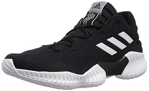 adidas Men's Pro Bounce 2018 Low Basketball Shoe, White/Black, 10.5 M US
