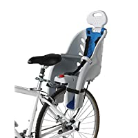 Schwinn Deluxe Bicycle Mounted Child Carrier/Bike Seat, Features 3-Point Harness, Adjustable Headrest, and Padded Crossbar, Mounts Easily on Bicycle