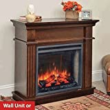 Hearth & Home Crestwood Wall or Corner Electric Fireplace Mantel Package in Walnut- CRESTWOODC23-WA