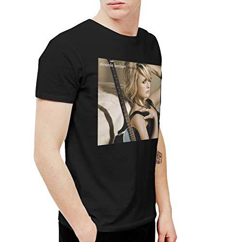 (Kangtians RHZTPYRDE Miranda Lambert Revolution Men's and Women's Short Sleeve Fancy Funny T-Shirts Black 6XL)