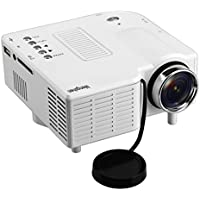Mengshen Mini LED Projector Home Vedio Theater Support USB SD AV VGA TV Interface for Movie Pictures Video Games Multimedia LCD Image System Portable LCD Projectors MS-GM40White