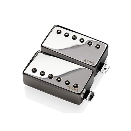 EMG REV Revelation Signature Passive Alnico 2 Humbucker Guitar Pickup Set, Chrome ()