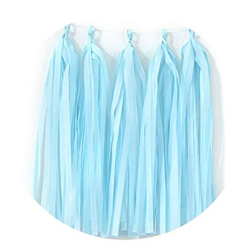 Confetti Baby Shower Tissue Paper Tassel Dinosaur Party Wedding Decoration for Wedding,17 Light Blue ()