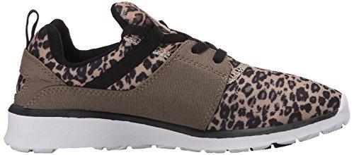 DC Frauen Heathrow SE Skate Schuh Leopard-Druck