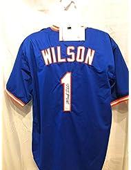 Mookie Wilson New York Mets Signed Autograph Custom Jersey JSA Witnessed  Certified 8026521b1