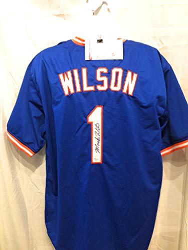 Mookie Wilson New York Mets Signed Autograph Custom Jersey JSA Witnessed Certified ()