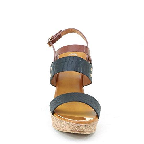 Black Platform Brieten Dress Womens New Multi Buckle Strap Wedge Ankle Comfort Sandals UpwxvO