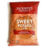Jackson's Honest Potato Chips, Sweet Potato, Cooked in Natural, Healthy, Nutrient Dense Organic Coconut Oil, Non GMO Snacks, As Seen On Shark Tank, 1.2 Ounce, Pack of 36