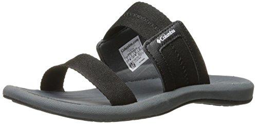 Columbia Women's Caprizee Athletic Sandal, Black/White, 9 B US - Columbia Slip Sandals