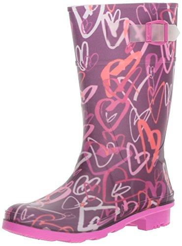 Kamik Rain Boots (Kamik Kids' Scribble Rain Boot, 5 M US Big Kid-  Dark Purple)