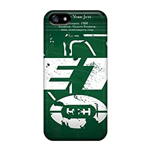 Scratch Protection Cell-phone Hard Covers For Iphone 5/5s (bJL1766IlrK) Support Personal Customs HD New York Jets Series