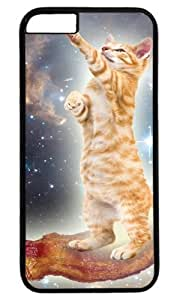 Cat In Space Animal Case for iPhone 6 PC Black by Cases & Mousepads