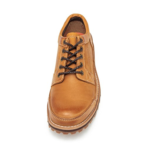 SADDY Men's Lace up Genuine Leather Oxford Sole Classic Casual Shoes for Work and Hiking Yellow sale with mastercard discount free shipping l4idAUmNi