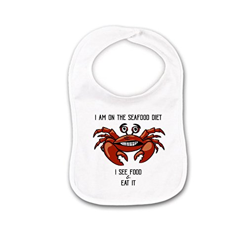 Lobster Baby Bib or Burp Cloth With Sayings,