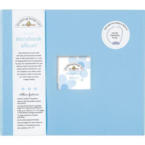 Doodlebug Design Bubble Blue Storybook for Scrapbooking Album, 12 by 12-Inch by Doodlebug Design