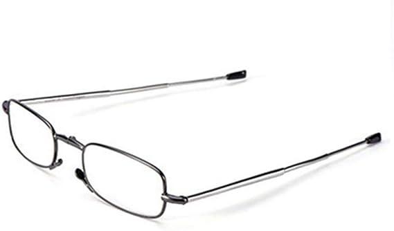 3,5 Lenti Trasparenti con Mini Flip Top Carrying Compatti Case per uomini e donne 1 a Metallo Telaio pieghevole occhiali da lettura Montatura Pieghevole