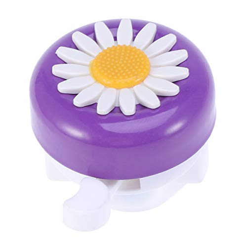 LIOOBO Kids Bike Girl's Bicycle Bells Toddler Bike Parts Bike Horn Accessory Flowers Purple White