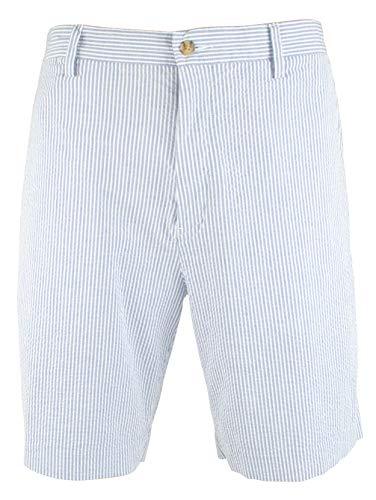 (Polo Ralph Lauren Men's Classic Fit Stretch Seersucker 10-inch Short-BW-30 Blue/White )