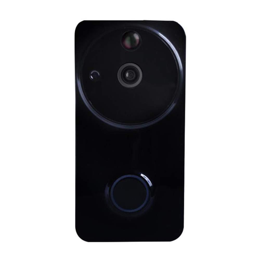 COL PETTI Drahtlose Video-Türklingel, Fernüberwachung Für Zu Hause Und Büro Sicherheit Türklingel Echtzeit-Video Zwei-Wege-Talk-Nacht-Vision,schwarz