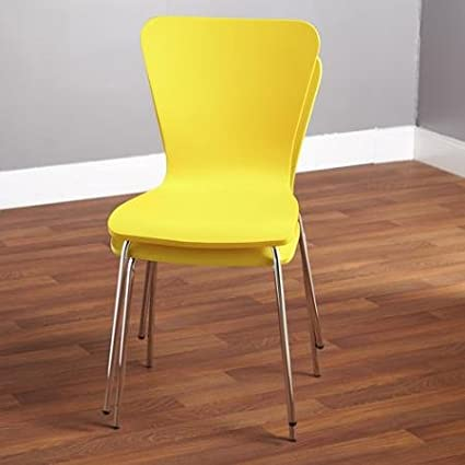 Set Of 2 Stackable Pisa Bentwood Chair, Yellow