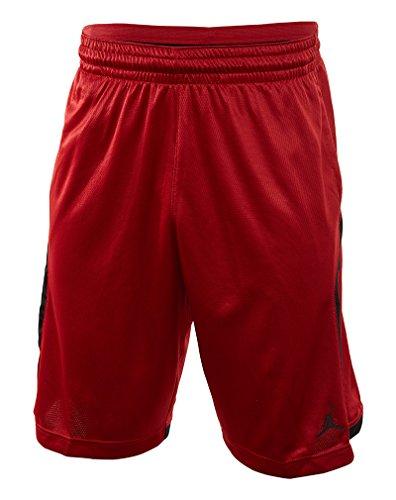Jordan Knit Basketball Shorts (L, Gym Red/Black)