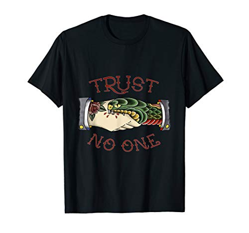 Trust No One - American Traditional Tattoo T-Shirt
