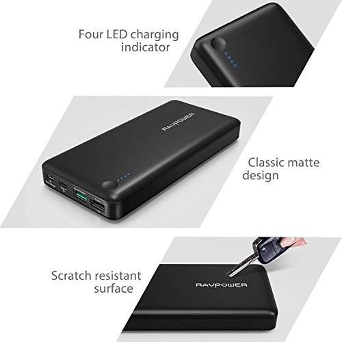 Type C USB C advice expenditure RAVPower 20100mAh portable Charger QC 30 Qualcomm quick impose 30 power Bank External Battery Pack for Macbook Nexus 6 iPhone and alot more batteries Chargers power Supplies