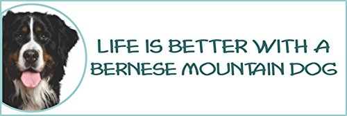 Holmes Stamp & Sign Life is Better with a Bernese Mountain Dog Bumper Sticker,2