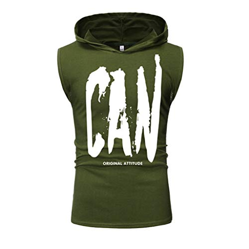 Men Fashion Printing Style Design Sport Tops Casual Shirts Sleeveless Blouse ()