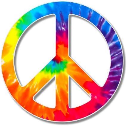 Vinyl Decal.. Peace Sign Flower Daisy Decal Sticker Laptop Car HIPPIE CHICK..