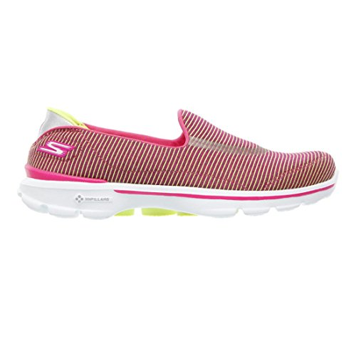 Skechers Womens Gowalk 3 Provoke Slip Sur Rose / Citron Vert