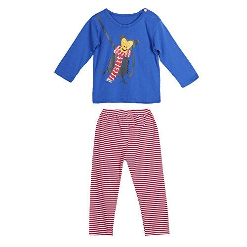 - Diamondo Baby Toddler Kids Long Sleeve Cartoon Print Tops Striped Pants Outfit Set (0-6M)