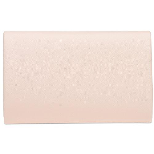 Ladies Envelope Evening CASPAR with Elegant Rose Chain TA372 Bag Clutch Detachable SfqTw