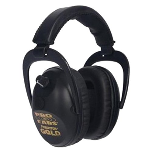 Pro Ears Predator Gold Series Ear Muffs Black GS-P300-B