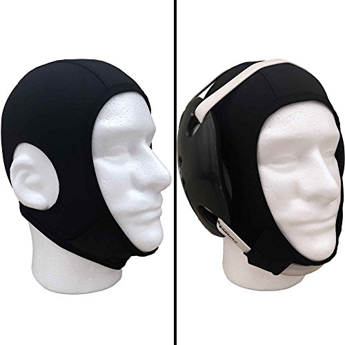 Savage Wrestling Hair Cover Cap Universal Fit For Any HeadGear | Best Design With Chin And Back Straps And Open Ears Holes by Savage Co.
