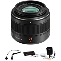 Panasonic 25mm f/1.4 Leica DG Summilux Lens Bundle. #HX025 Value Kit with Acc