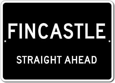 Custom Aluminum Sign - FINCASTLE, KENTUCKY US City Straight Ahead Sign